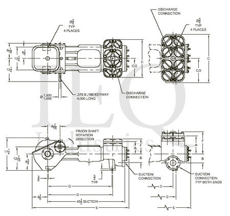 Wheatley 535/545 Duplex Double-Acting Piston Pump