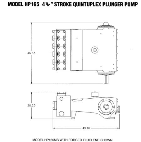 Wheatley HP165 (163Q-4) Quintuplex Plunger Pump