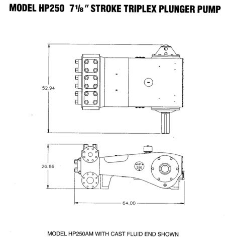 Wheatley HP250 (184T-7) Triplex Plunger Pump